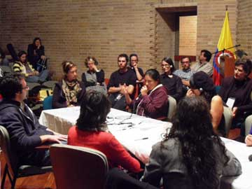 roundtable discussion in Bogotá